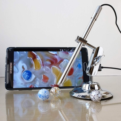 USB Microscope Portable Multi-Function Soldering Magnifier Camera with 10-200 Magnification IP67 Waterproof for Android, Mac and Windows PC