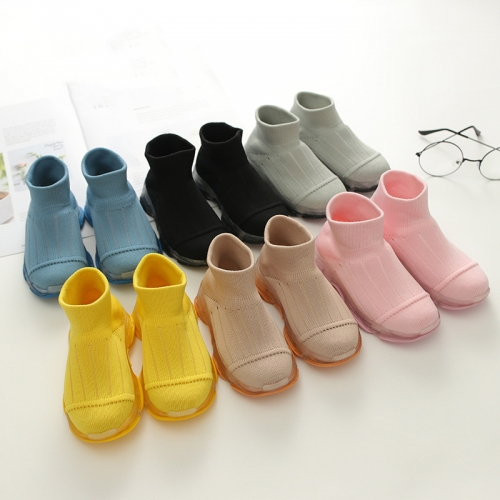 Anti-slip Knitted Sneaker Quarter Socks Boots For Kids