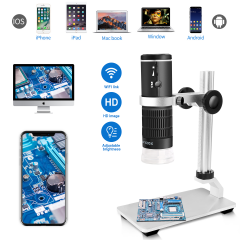 Jiusion F210 WiFi USB Digital Microscope HD 1080P Resolution 50-1000X Magnification